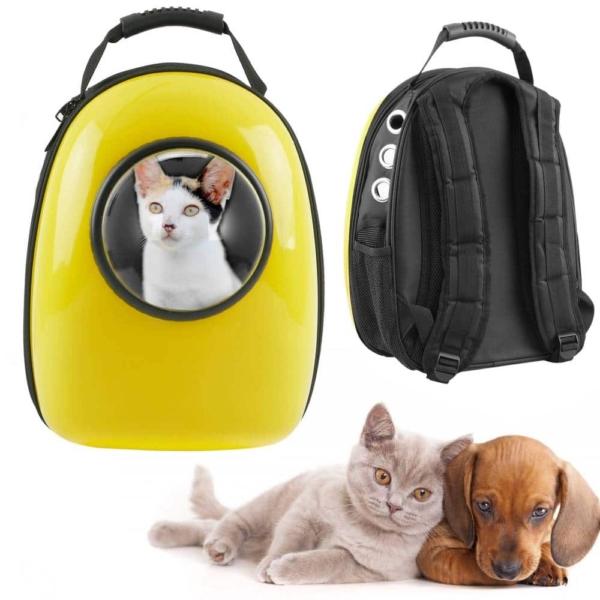 mochila regida con ventanilla para mascotas