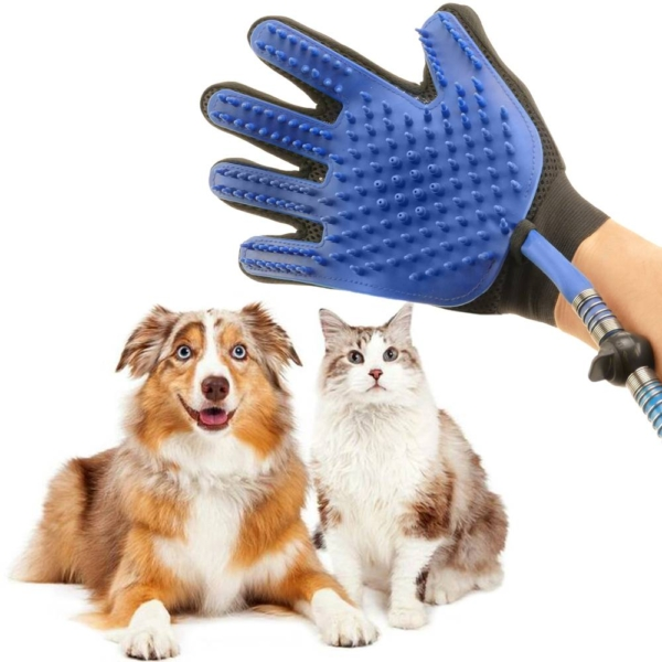 guante manguera de agua para duchar perros